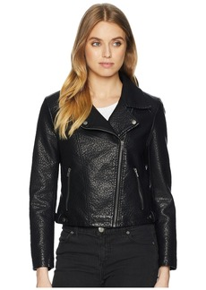BB Dakota Doin It Right Rippled Vegan Leather Jacket
