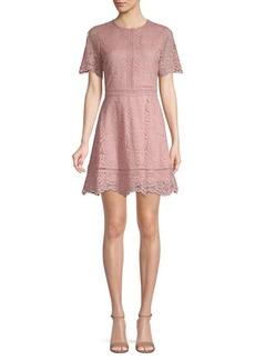 BB Dakota Embroidered Lace A-Line Dress