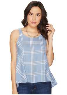 BB Dakota Euphrasia Sot Plaid Button Back Tank Top