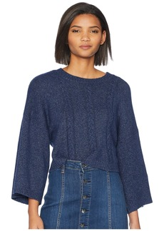 BB Dakota Extra Whip Cable Knit Mock Neck Sweater