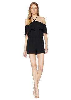 BB Dakota Feelin Myself Heavy Rayon Crepe Haltertop Romper