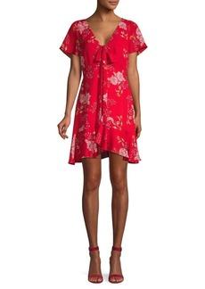 BB Dakota Floral A-Line Dress