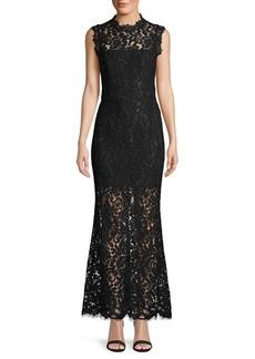 BB Dakota Floral Lace Gown