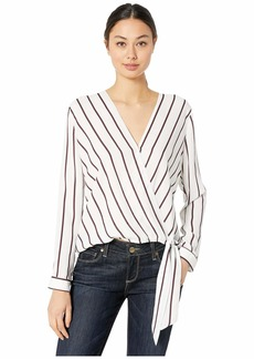 BB Dakota Friday Night Stripes V-Neck Top