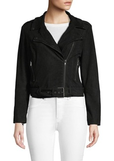BB Dakota Front-Zip Belted Jacket