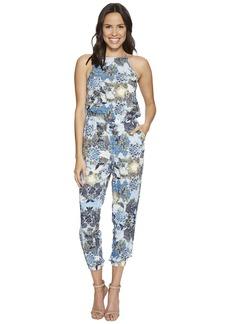 "BB Dakota Garnett ""Wandering Floral"" Printed Rayon Challis Jumpsuit"