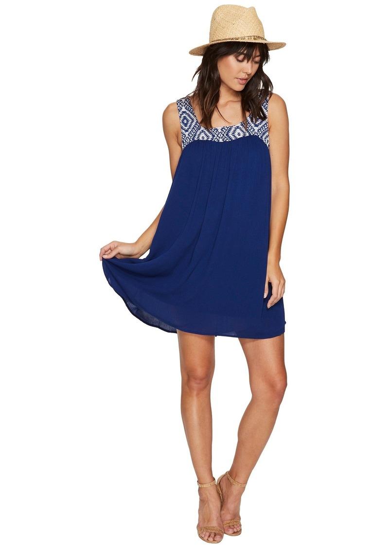 BB Dakota Glyins Jacquard Yoke + Crinkle Rayon Dress