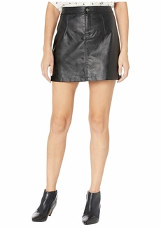 BB Dakota Good Girl Gone Rad Textured Faux Leather Miniskirt