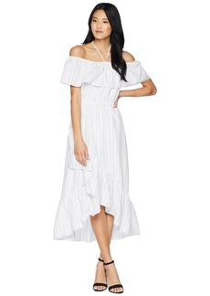 BB Dakota Halsey Striped Ruffle Dress