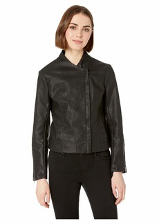 BB Dakota Here's The Stitch Vegan Mock Neck Jacket