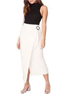 BB Dakota In The Ring Midi Slub Knit Wrap Skirt