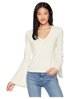 BB Dakota Irish Goodbye Rib Knit Bell Sleeve Top