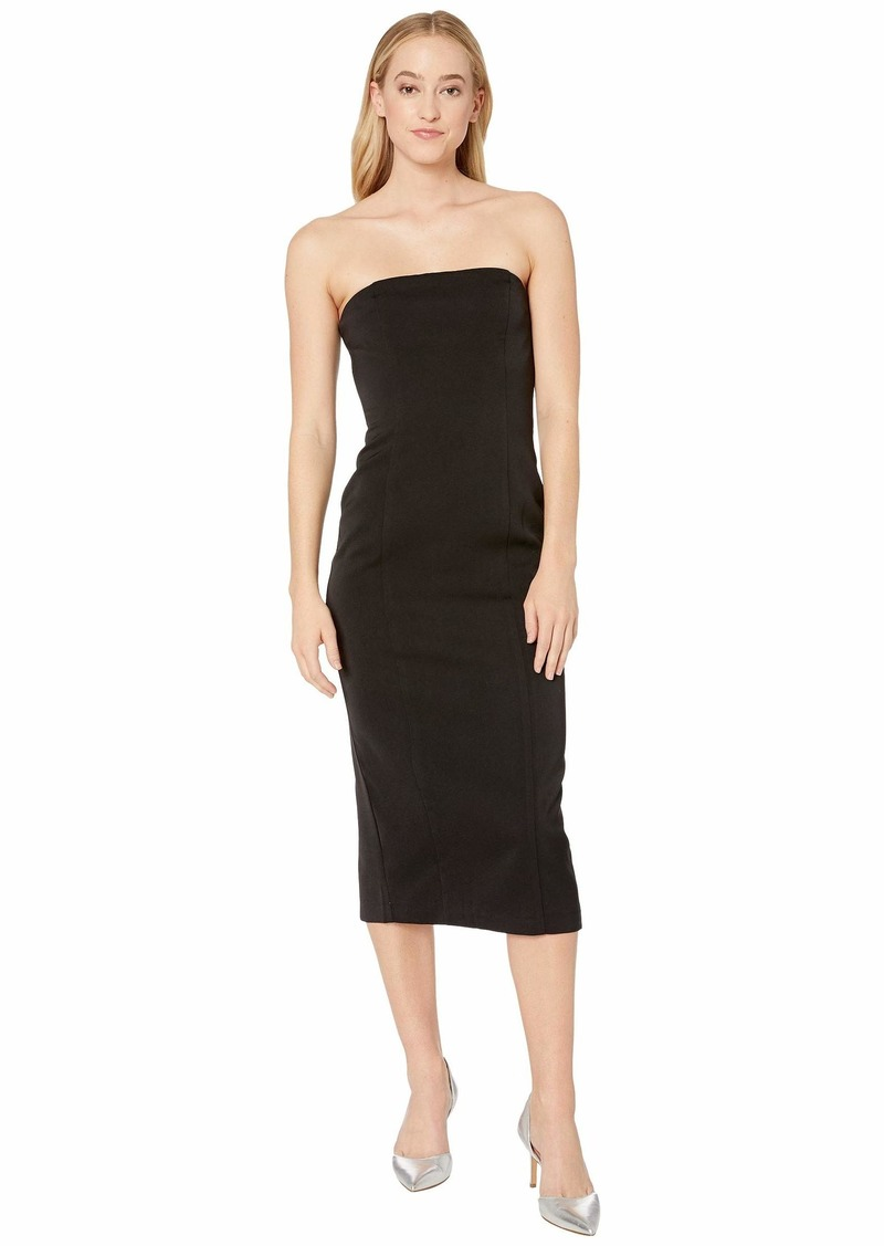 BB Dakota Isn't It Iconic Bonded Crepe Strapless Zip Dress
