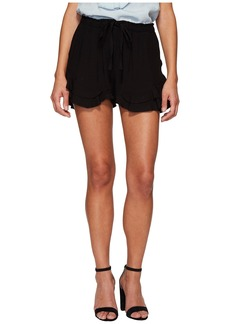 BB Dakota Alder Rayon Twill Double Ruffle Hem Shorts