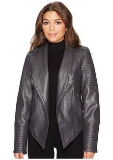 BB Dakota Amanda Washed Vegan Leather Jacket
