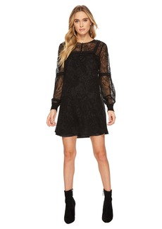 BB Dakota Andres Flocked Chiffon Dress
