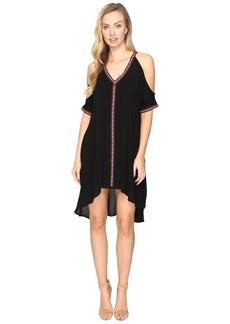 Jack by BB Dakota Arik Cold Shoulder Dress with Novelty Ribbon Trim