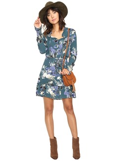 Jack by BB Dakota Ashlene Printed Crinkle Rayon Dress