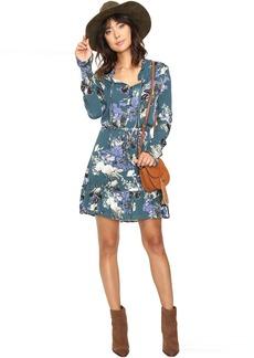 Jack by BB Dakota Ashlene Printed Crinkle Rayon Dress