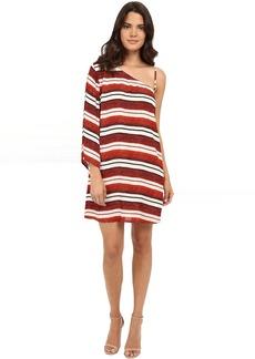 Jack by BB Dakota Bryanne Beach Blanket Stripe Printed Crinkle Rayon Dress