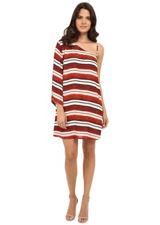 Jack by BB Dakota Bryanne Beach Blanket Stripe Printed Crinkle Rayon Dress