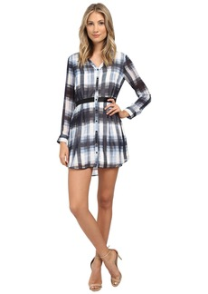 Jack by BB Dakota Cahill Ombre Plaid Printed Chiffon Dress