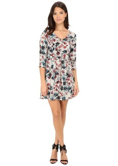 Jack by BB Dakota Calico Silver Bouquet Printed Sateen Dress
