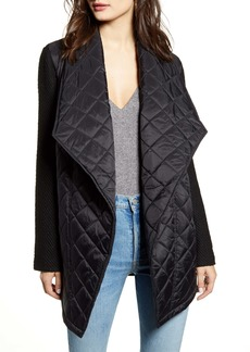 Jack by BB Dakota Call It Quilts Mix Media Quilted Coat