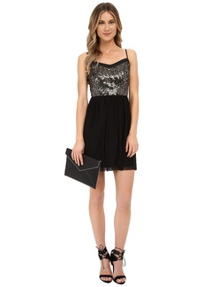 Jack by BB Dakota Carrian Sequin Bodice and Black Mesh Dress
