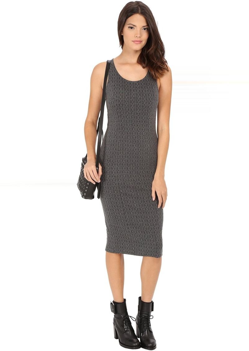 Jack by BB Dakota Castel Cable Pattern Knit Jacquard Midi Dress