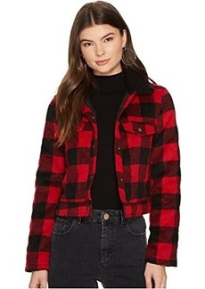 Jack by BB Dakota Cicily Buffalo Plaid Jacket with Sherpa Collar