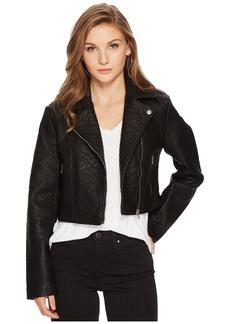 BB Dakota Devi Washed Vegan Leather Moto Jacket