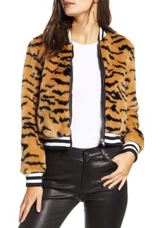 Jack by BB Dakota Faux Fur Tiger Bomber