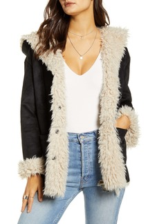 Jack by BB Dakota Faux Shearling Faux Suede Jacket