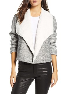 Jack by BB Dakota Faux Shearling Lined Knit Jacket