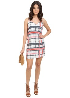 Jack by BB Dakota Filbert Tie-Dye Plaid Dress