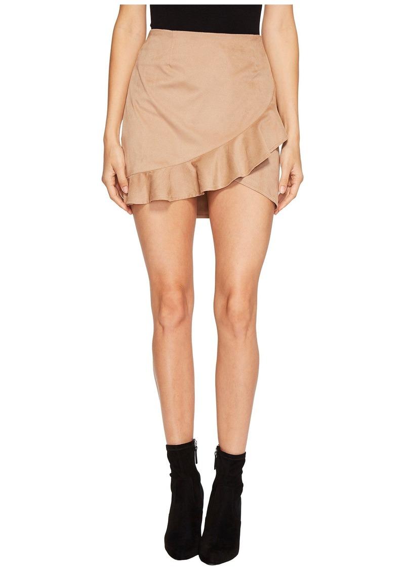 26a902df0c BB Dakota Khan Faux Suede Ruffle Skirt | Skirts