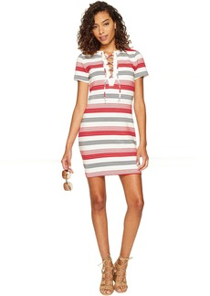 Jack by BB Dakota Lijah Stripe Knit + Rib Trim Dress