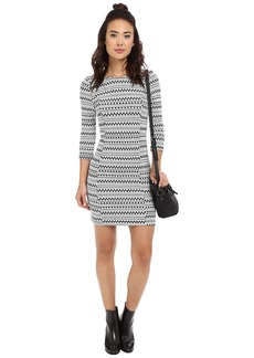 Jack by BB Dakota Lively Knit Jacquard and Elastic Trim Dress