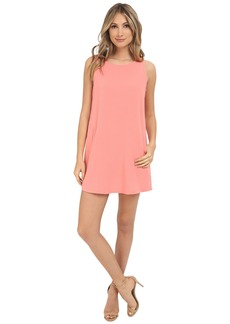Jack by BB Dakota Mack Heavy Crepe Crisscross V-Back Shift Dress