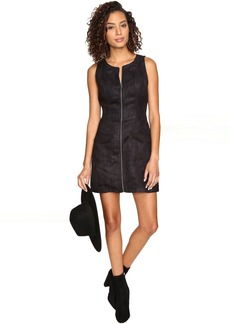 Jack by BB Dakota Marceline Faux Suede Front Zip Dress