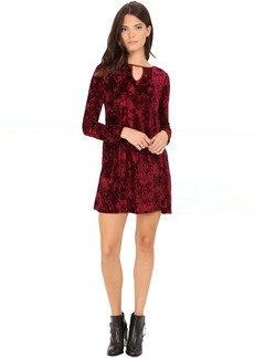 BB Dakota Martelli Velvet and Satin Binding Dress