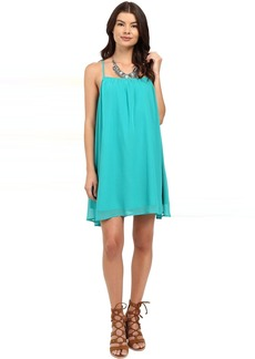 Jack by BB Dakota Nanna Chiffon Gathered Cross Back Dress