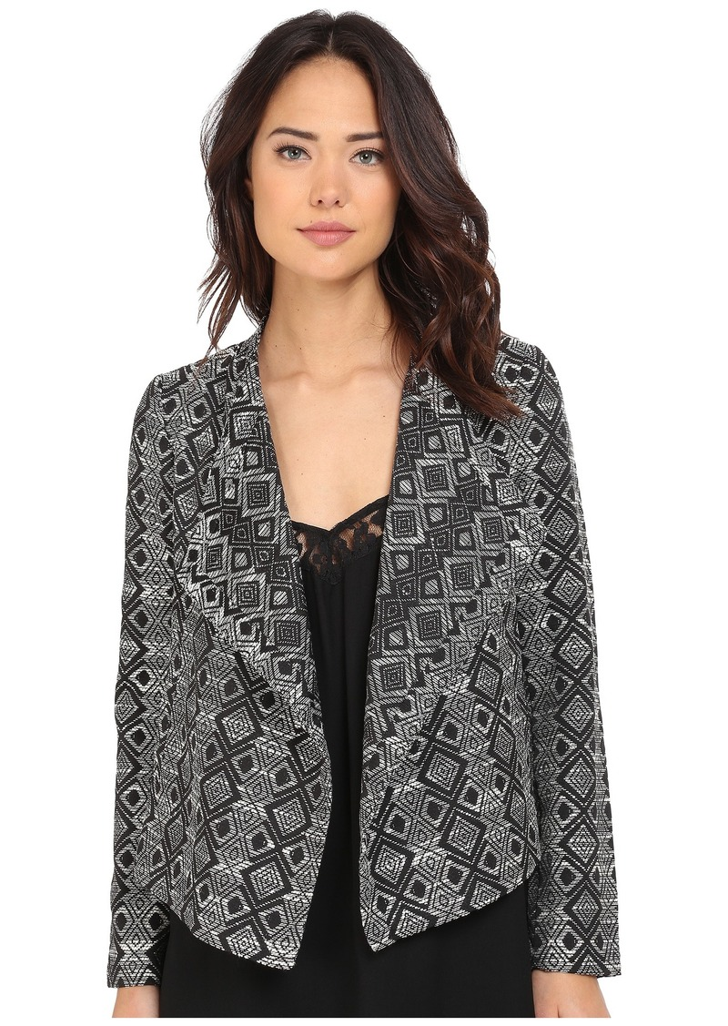 Jack by BB Dakota Penelope Woven Jacquard Draped Front Jacket
