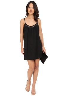 Jack by BB Dakota Ramona Heavy Crepe Dress and Lace Trim