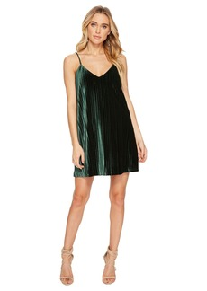 BB Dakota Rickie Pleated Velvet Slip Dress