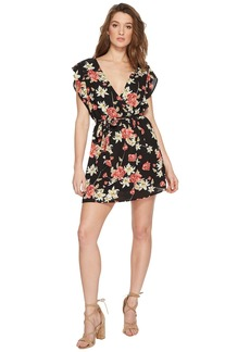 BB Dakota Shakira Printed Ruffle Sleeve Dress