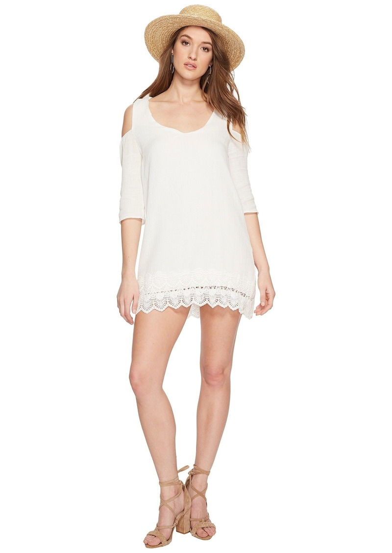 BB Dakota Stefani Cotton Gauze Dress with Scallop Lace Hem