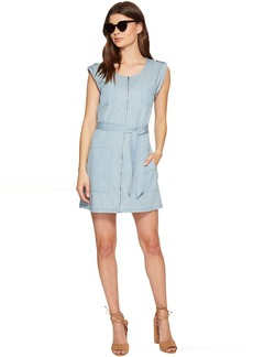 Jack by BB Dakota Stefania Washed Out Chambray Zip Front Dress