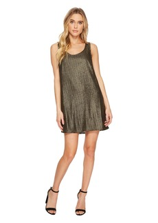 BB Dakota Tawny Metallic Mesh Shift Dress